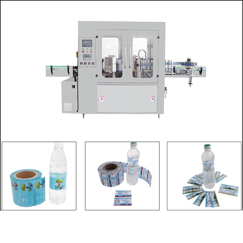 Hot melt adhesive glue labeling machine automatic linear round plactic glass bottle glue hotmelt sticker applicator labeling system