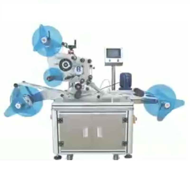 newspaper plastic film roll flat surface labeling sticking machine picture labeling applicator