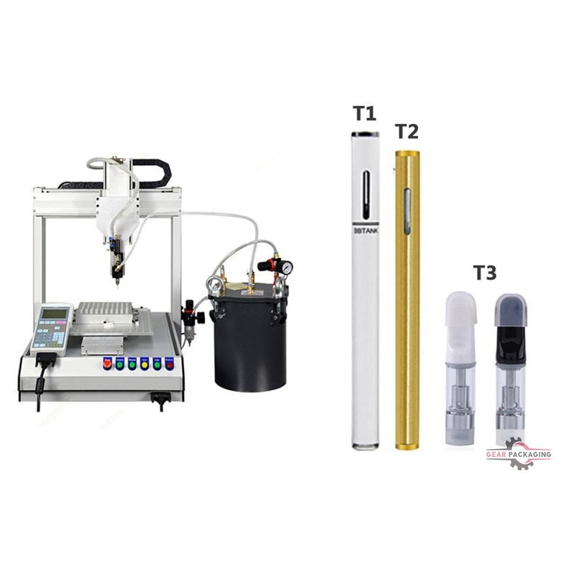 Bottle/vaporizer/atomizer/cartridge refill machine filling co2 catridge vapor cartomized filling machine with heating tank