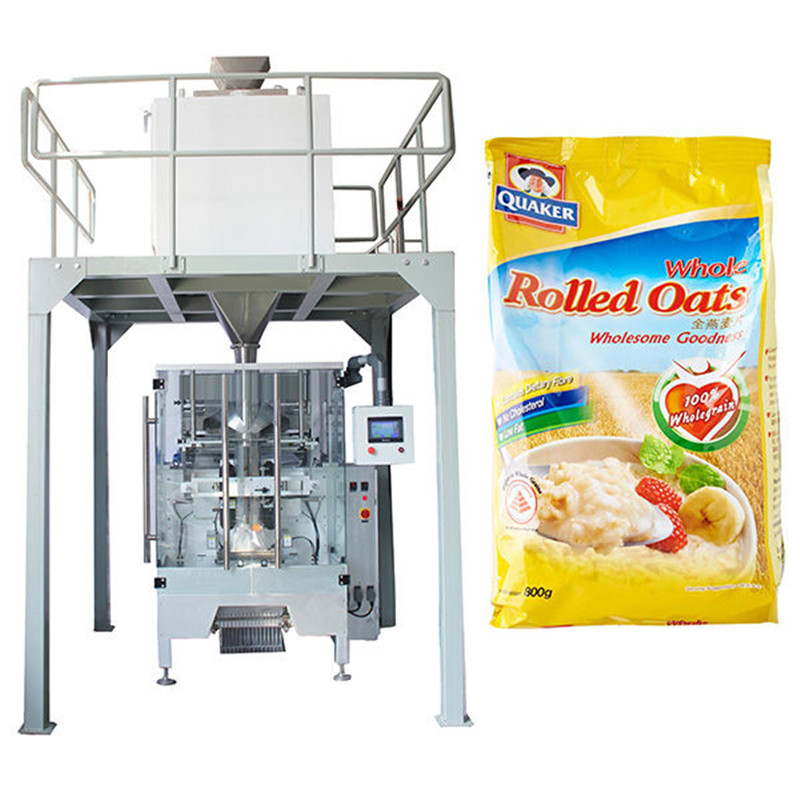 Linear weigher automatic oatmeal packing machine V.F.F.S. Bagger Complete Systems