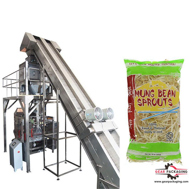 full automatic weighing bean sprouts packaging  V.F.F.S. Bagger Complete Systems