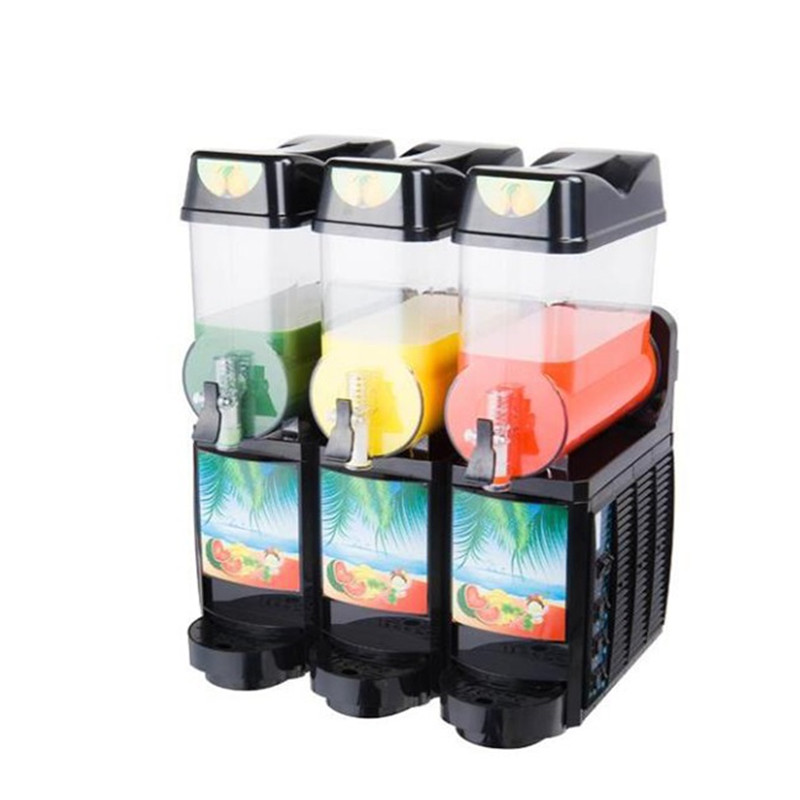 Filling fruit food smoothie slush machine Snow melting machine Smoothie machine Single Double Trible station slush machine