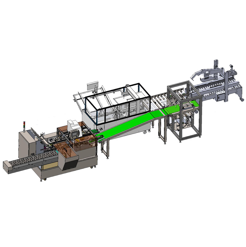 Automatic stick sachet cartoning machine multi lanes box packaging End packaging line