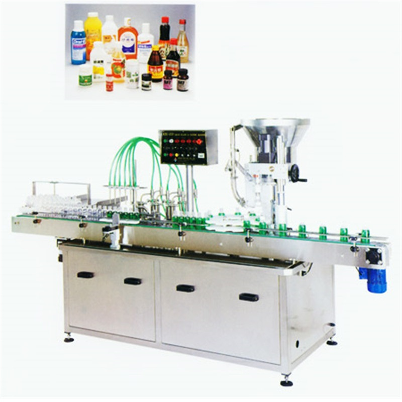 Automatic Volumetric Liquid Filling & Capping Machine