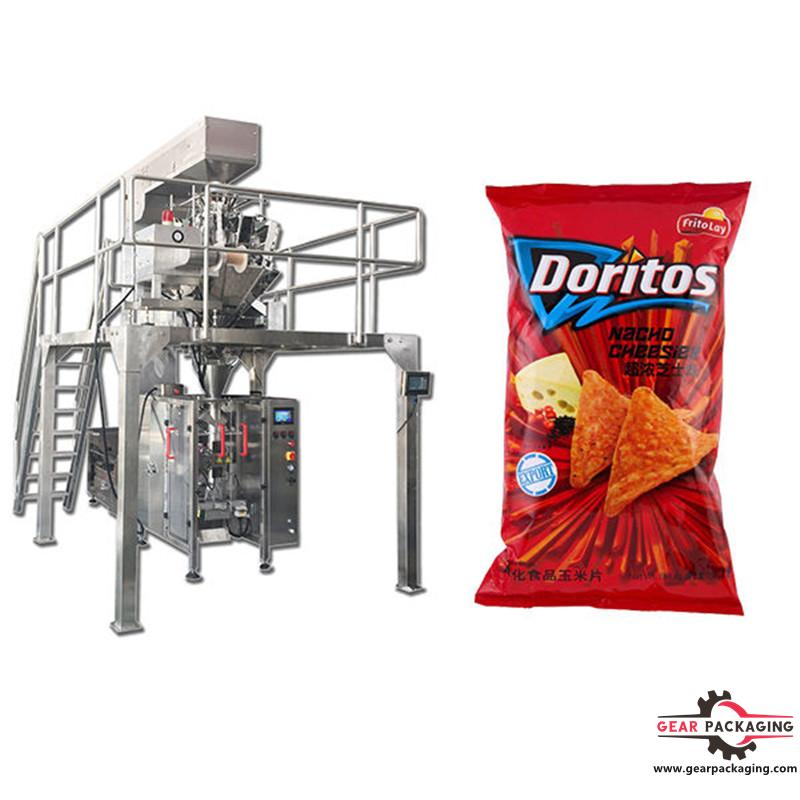 Puffed food shrimp packing machine V.F.F.S. Bagger Complete Systems