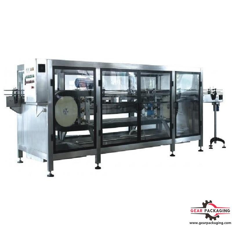 Automatic glass bottles jars container washing machine clamping conveyor type high speed