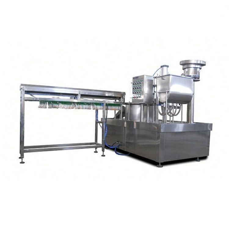 Automatic single head premade bag rotary filling capping machine