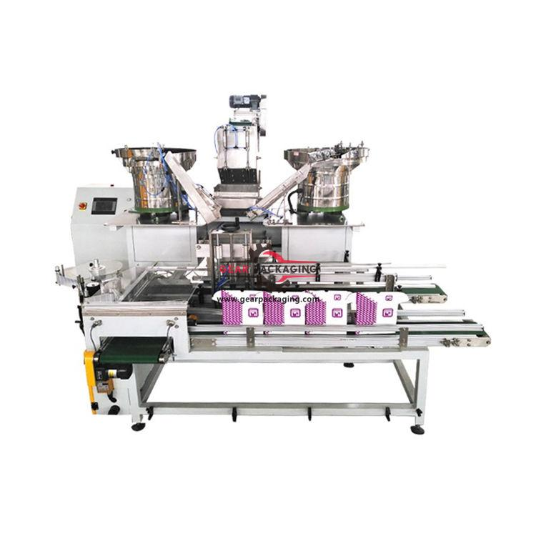 Automatic bulk hardware carton box weighing filling packing line