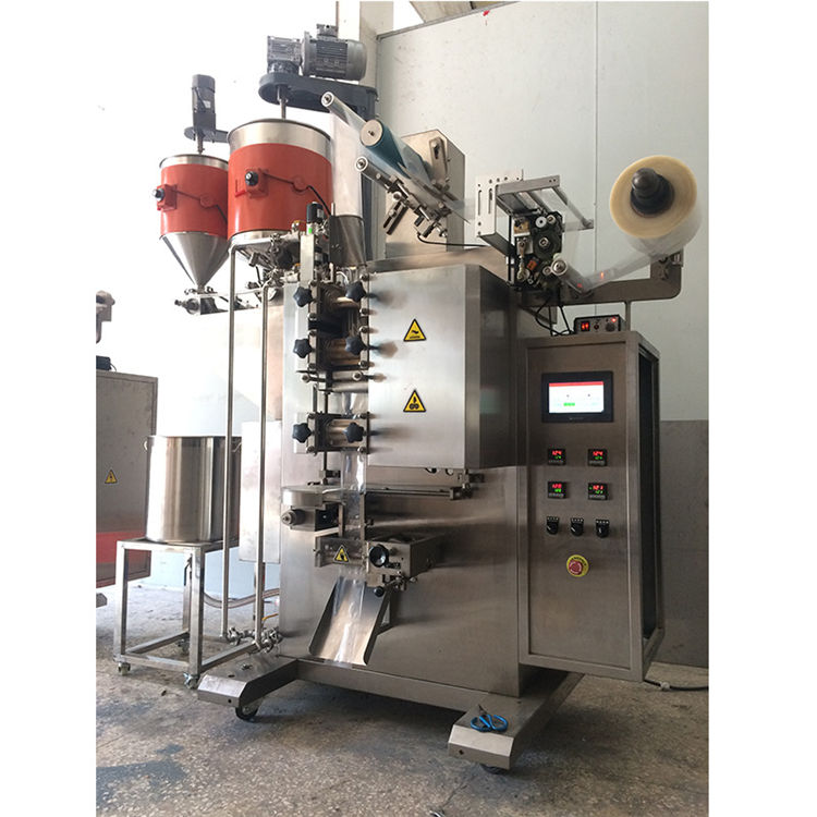 Automatic continuous heat roller sealer liquid high speed bag packing machine