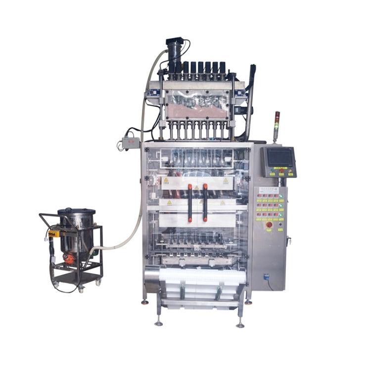 Automatic 8 lanes powder stick sachet vertical bag packaging machine