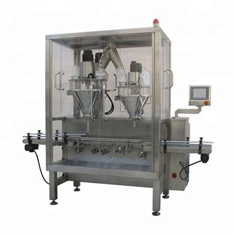 Automatic bottle can tin high accuracy milk powder filling machine with 2 nozzles